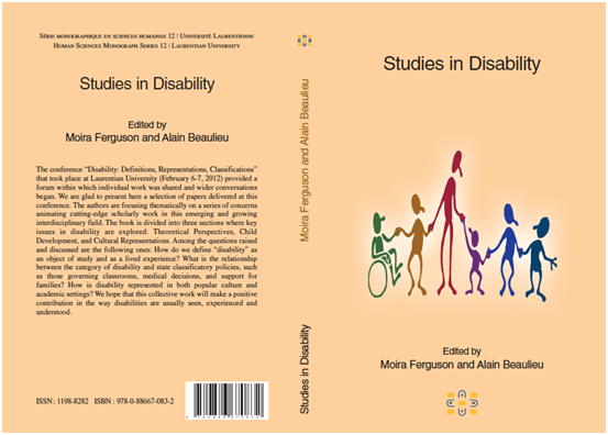 Studies in Disability cover image
